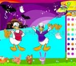 donald duck coloring funny donald halloween