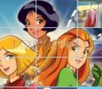 totally spies - puzzle totally spies slide puzzle