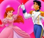 Puzzle with Ariel and Prince Sort My Tiles Cinderella and Prince Charming.